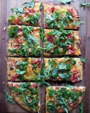 Cantaloupe and Prosciutto Pizza