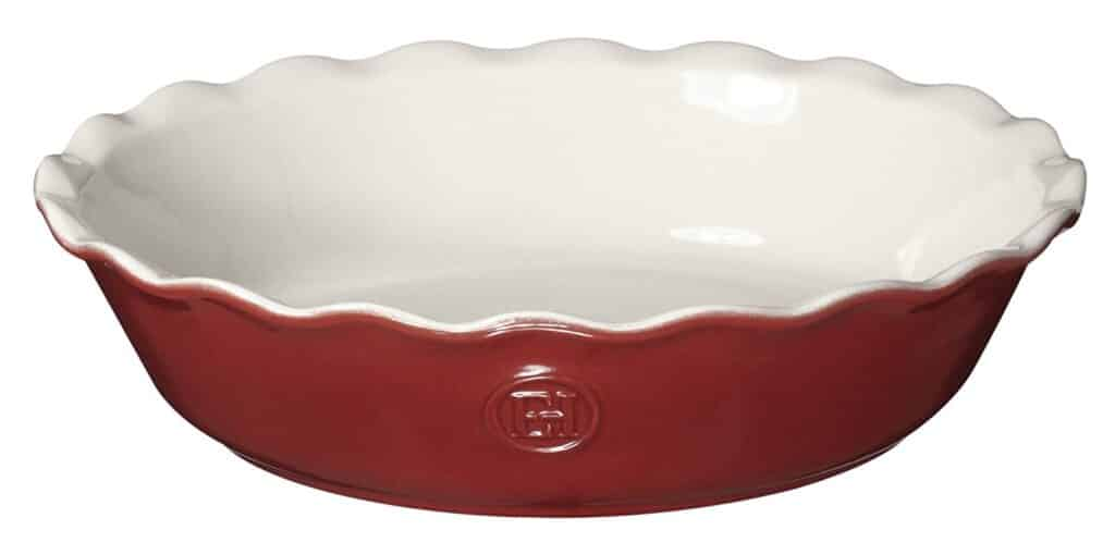 red Emile Henry pie plate