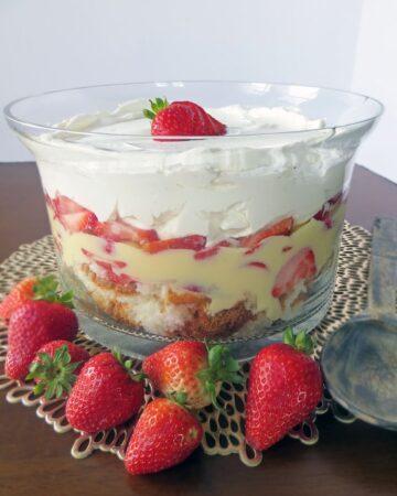 Strawberry Vanilla Trifle aka Strawberry Junk