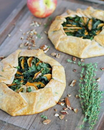 Sweet Potato, Apple & Kale Galette