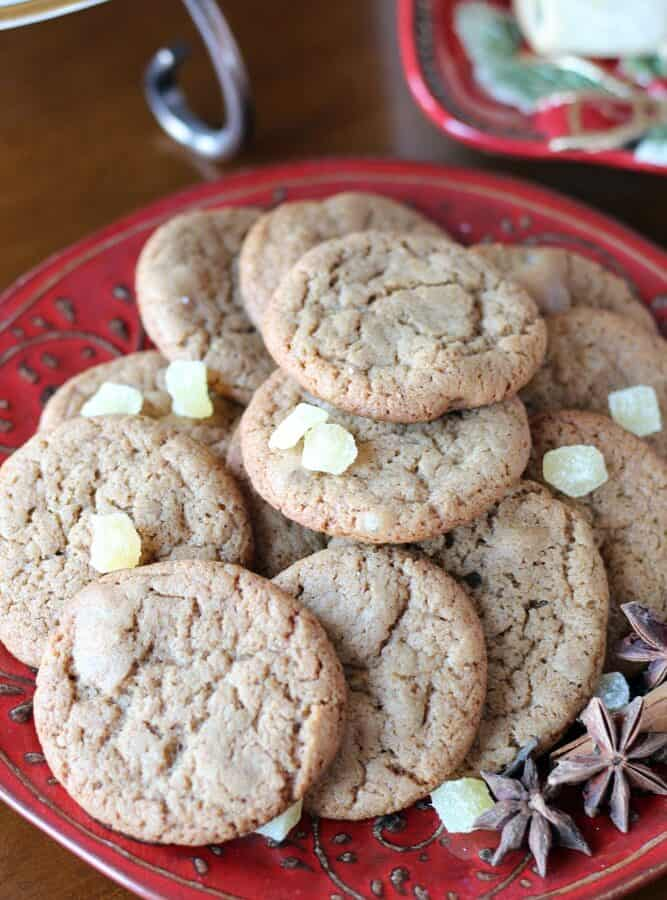 Ginger Cookies with Pomegranate Molasses