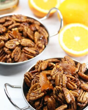 Orange Rum Glazed Pecans
