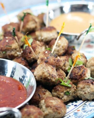 Pork and Mushroom Meatballs