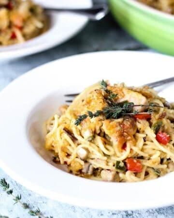 Chicken Spaghetti from Scratch