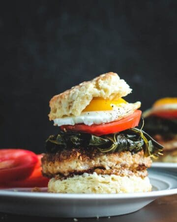 Pork and Collard Greens Biscuit Sandwiches