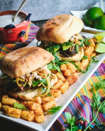 Cilantro Chicken Sandwiches with Chili-Spiced Tater Tots