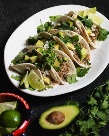 Braised Salsa Verde Pork Tacos