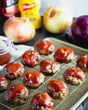 Onion Burger Mini Meatloaf