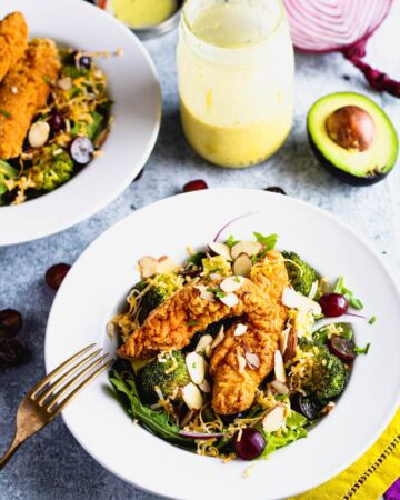 Crispy Chicken and Broccoli Salad