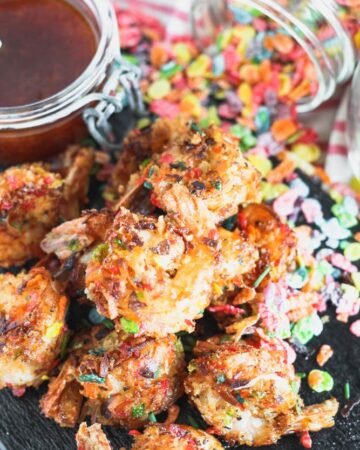 Fruity Pebble Coconut Shrimp