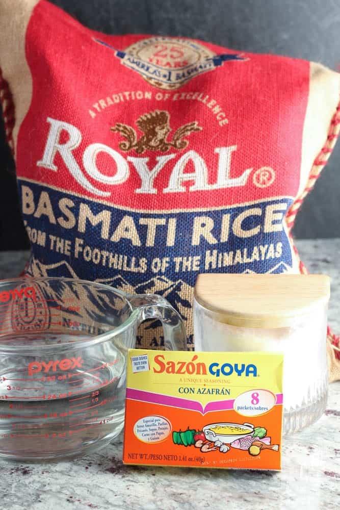 ingredients for perfect basmati rice