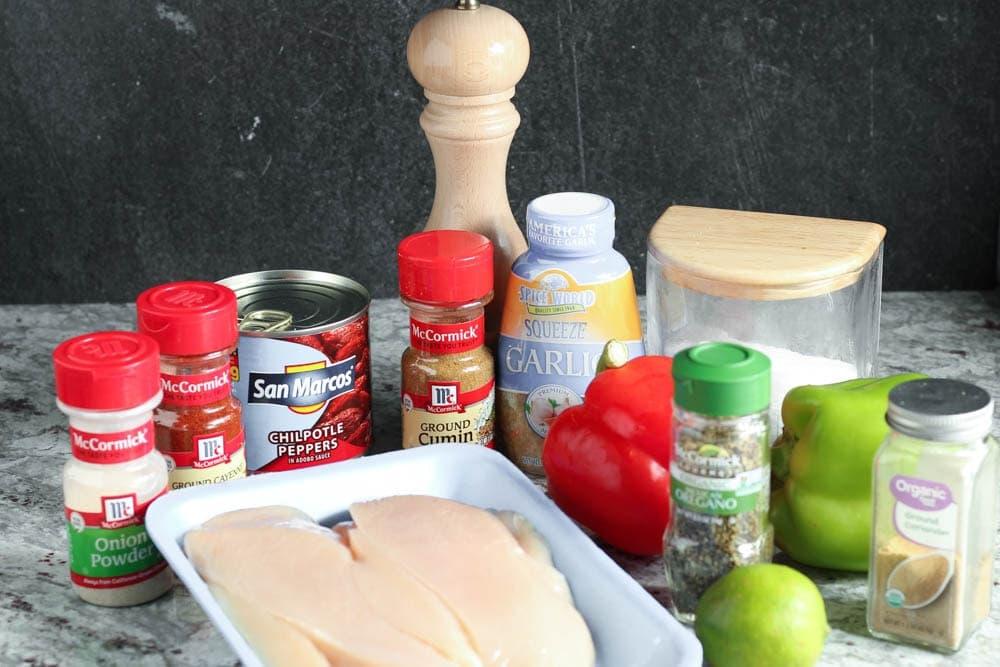 Ingredients for sheet pan fajitas