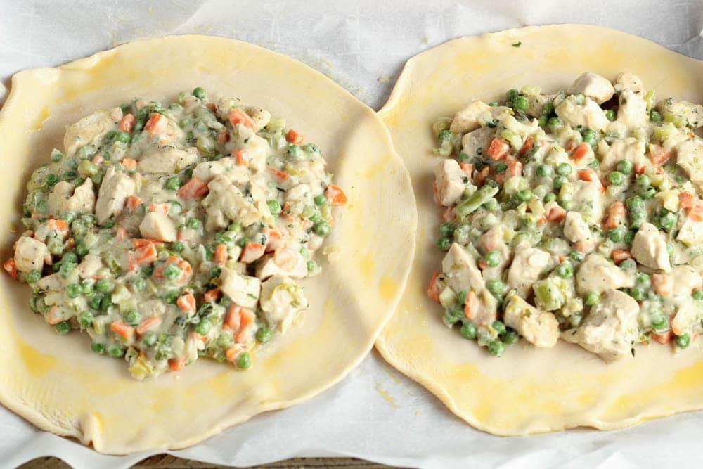 chicken potpie crostata process shot 1