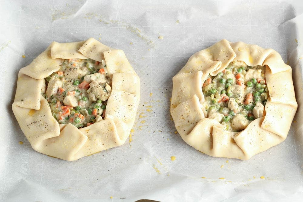 chicken potpie crostata process shot 2