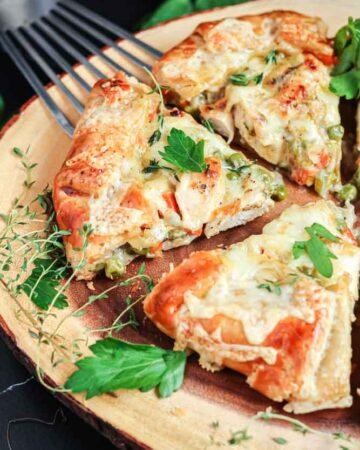 Chicken Pot Pie Crostata