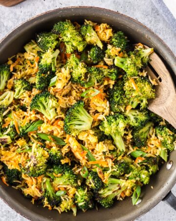 Vegetarian Fried Rice with Roasted Broccoli