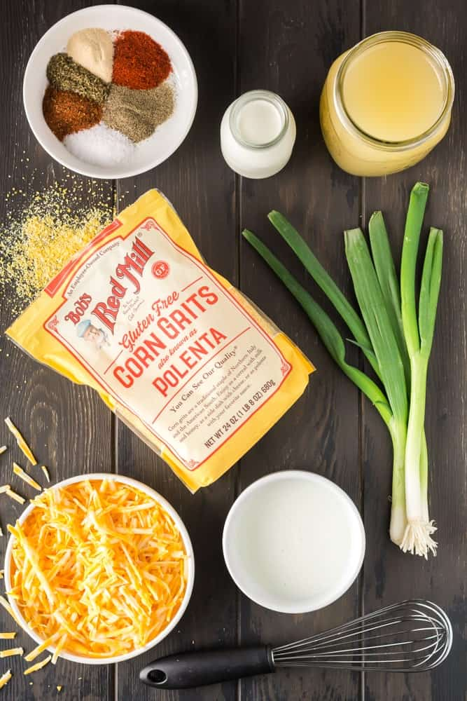 ingredients for cheesy grits