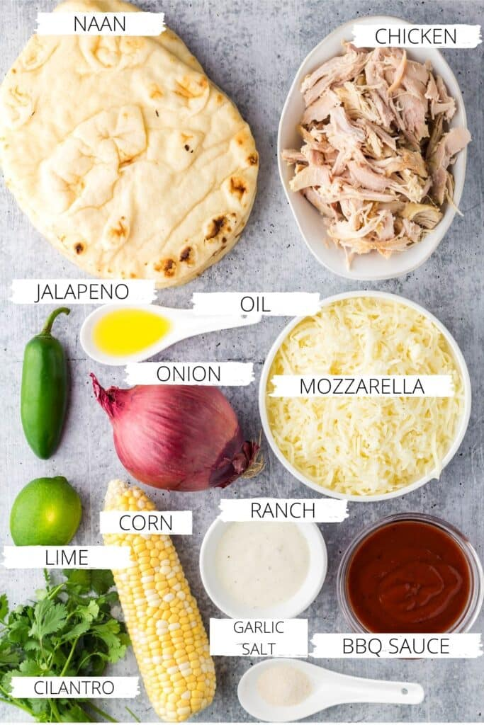 BBQ Chicken Flatbread ingredients