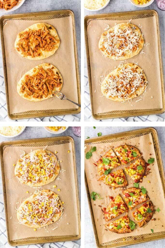 BBQ Chicken Flatbread Process shot